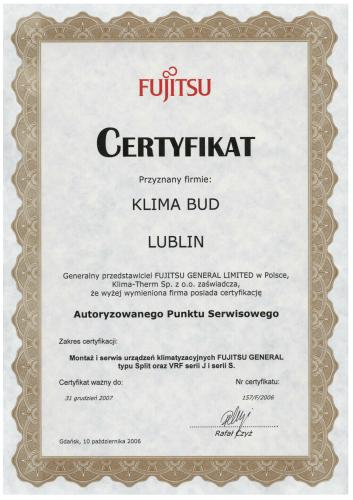 CERTYFIKAT FUJITSU-1