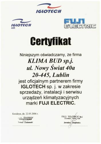 CERTYFIKAT FUJI ELECTRIC-1