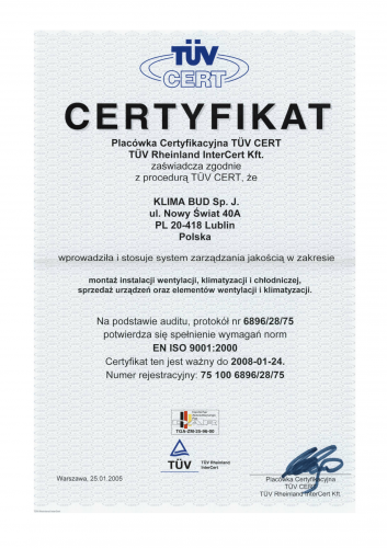 CERTYFIKAT ISO 9001-1